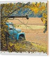 The Old Boom Truck Wood Print