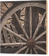 The Old Cart Wood Print