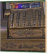The Old Copper Cash Machine Wood Print