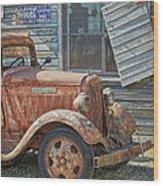 The Old Dodge Wood Print