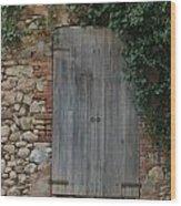 The Old Door Wood Print