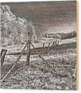The Old Farm Wood Print