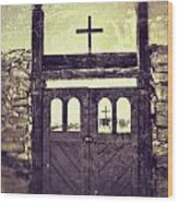 The Old Galisteo Cemetery Wood Print