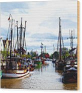 The Old Harbor Wood Print