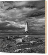 The Old Lighthouse  Wood Print by Adrian Evans