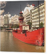 The Old Lightship Wood Print