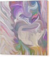 The Old Man Abstract Wood Print by Gina Lee Manley