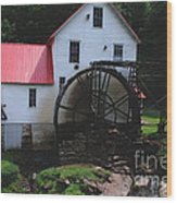 The Old Mill 1886 In Cherokee North Carolina Wood Print