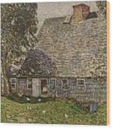 The Old Mulford House Wood Print by Childe Hassam