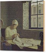 The Old Nurse Wood Print