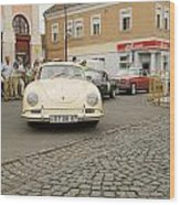 The Old Porshe Wood Print by Odon Czintos
