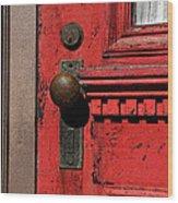The Old Red Door Wood Print