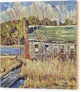 The Old Relic - Plein Air Wood Print