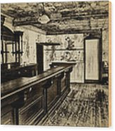 The Old Saloon Wood Print