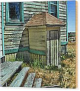 The Old Schoolhouse Wood Print by Bonnie Bruno
