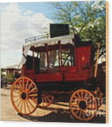 The Old Stage Coach Wood Print