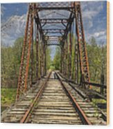 The Old Trestle Wood Print by Debra and Dave Vanderlaan