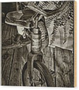 The Old Tricycle Wood Print