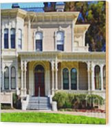 The Old Victorian Camron-stanford House In Oakland California . 7d13440 Wood Print by Wingsdomain Art and Photography