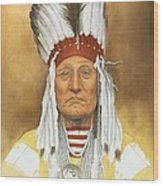 The Old War Chief Wood Print
