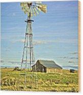 The Old Windmill Wood Print