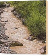 The Ourika River In Spate Wood Print