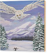 The Owl And The Rat Wood Print by Phyllis Kaltenbach