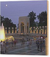 The Pacific Pavilion And Pillars Wood Print by Richard Nowitz