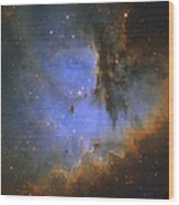 The Pacman Nebula Wood Print by Ken Crawford