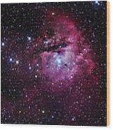 The Pacman Nebula Wood Print