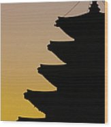 The Pagoda At Gyeongbukgong In Seoul Wood Print by Photography by Simon Bond
