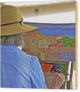 The Painter Wood Print