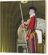 The Papal Swiss Guard Wood Print