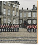 The Parading Of The Guards Wood Print