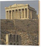 The Parthenon On The Acropolis Wood Print by Richard Nowitz