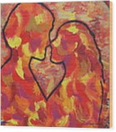 The Passion Of Romance Wood Print