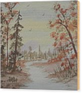 The Pathway Wood Print