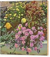 The Patio At Coffee O - Falmouth - Cape Cod - Massachusetts Wood Print
