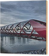The Peace Bridge Wood Print
