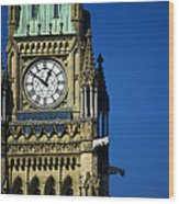 The Peace Tower, On Parliament Hill Wood Print