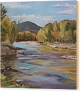 The Pemi In Autumn One Wood Print