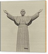 The People's Pope - John Paul II Wood Print by Bill Cannon