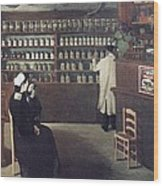 The Pharmacy, 1912 Artwork Wood Print