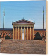 The Philadelphia Museum Of Art Front View Wood Print