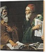 The Philosophers Wood Print