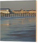 The Pier On Old Orchard Beach Wood Print