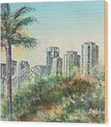 The Pike And Downtown Long Beach Wood Print