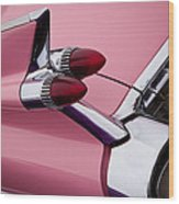 The Pink Cadillac Wood Print