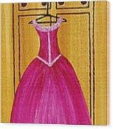 The Pink Dress 4535 Wood Print by Jessie Meier