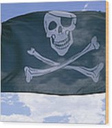 The Pirate Flag Known As The Jolly Wood Print
